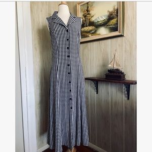 Vintage Gingham Plaid Summer Dress